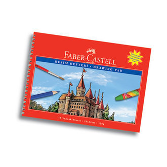 Faber Castell Resim Defteri Karton Kapak 15 Yaprak 25X35 Cm