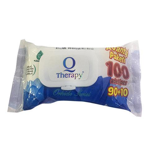 Therapy Islak Havlu Mendil 100lü kapaklı Mavi