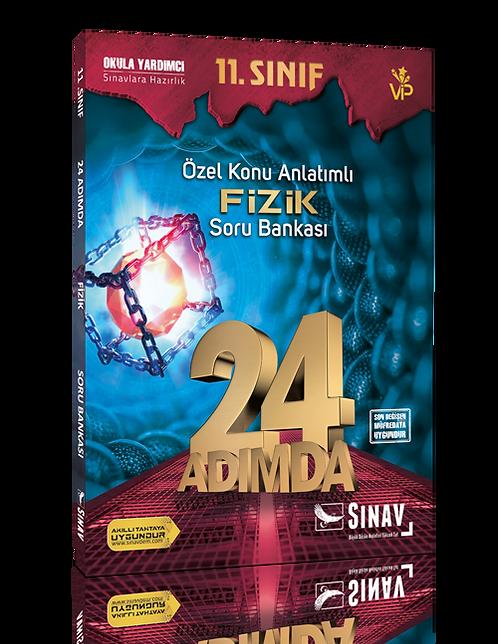 Sınav Yayınları 11. Sınıf Fizik 24 Adımda Özel Konu Anlatımlı Soru Bankası