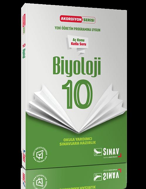 Sınav Yayınları 10. Sınıf Biyoloji Akordiyon Kitap