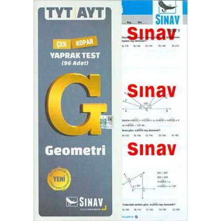 Sınav TYT AYT Geometri Yaprak Test