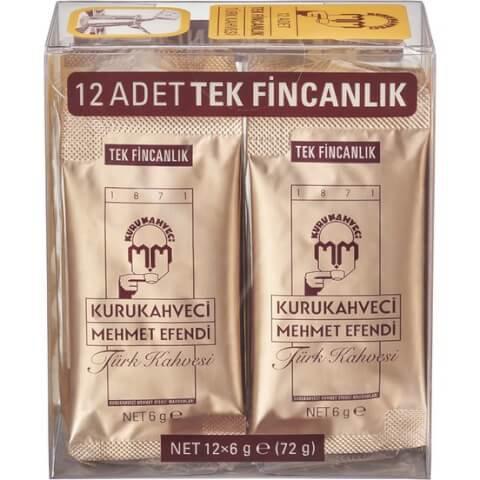 Mehmet Efendi Tek Fincanlık Türk Kahvesi 12x6 gr
