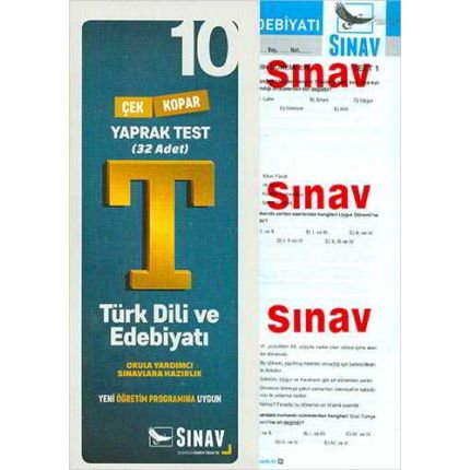 Sınav 10.Sınıf Türk Dili ve Edebiyatı Yaprak Test