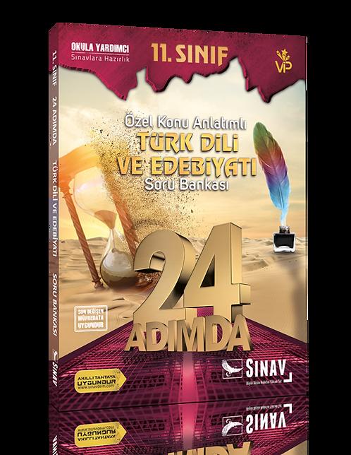 Sınav Yayınları 11. Sınıf Türk Dili ve Edebiyatı 24 Adımda Özel Konu Anlatımlı S