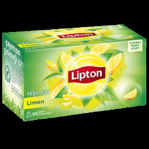 Lipton Limonlu Yeşil Poşet Çay 20 li