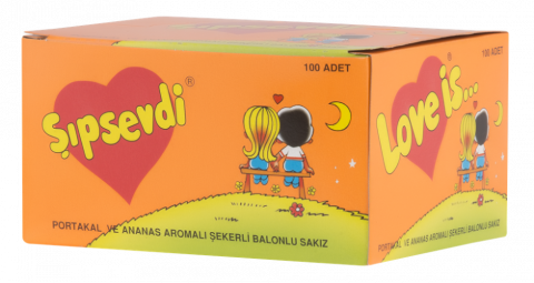 Şıpsevdi Portakal&Ananas Aromalı Sakız 100 lü