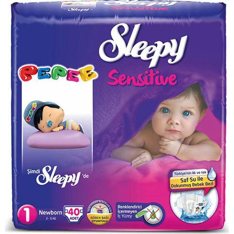 Sleepy Sensitive Bebek Bezi Yeniodoğan 1 Beden 40lı Ped Hediyeli