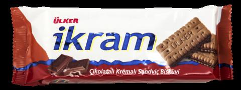 Ülker İkram Çikolata Kremalı Sandviç Bisküvi 84 Gr