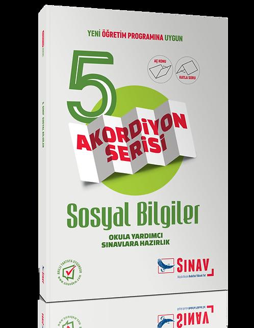 Sınav Yayınları 5. Sınıf Sosyal Bilgiler Akordiyon Kitap