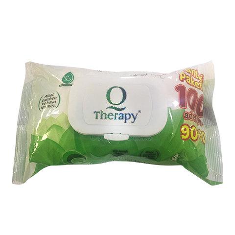 Therapy Islak Havlu Mendil 100lü kapaklı Yeşil
