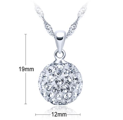 Ball pendant necklace dollenvyatl atlanta fashion 925 sterling silver aloadofball Image collections
