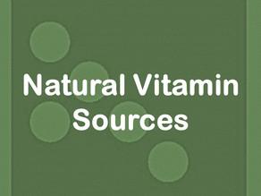 Natural Vitamin Sources