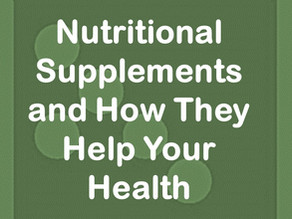 Nutritional Supplements - Adding To Your Health?