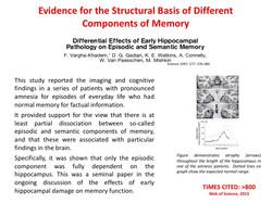 Sturctural basis of memory