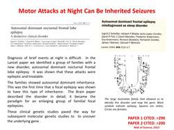 motor attacks as seizures