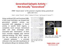 Generalised epilepsy activity