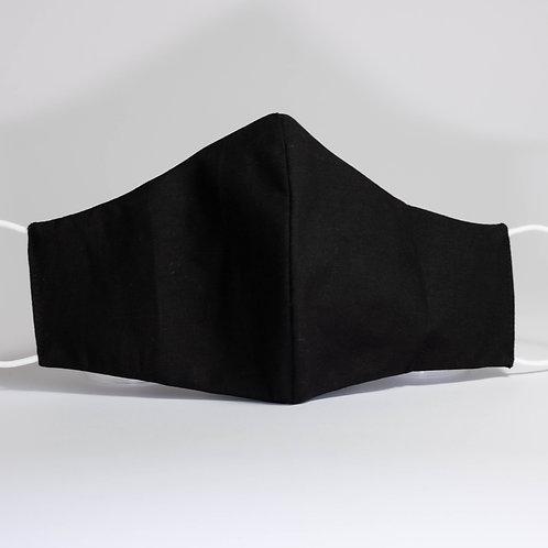 All Black Cotton Mask