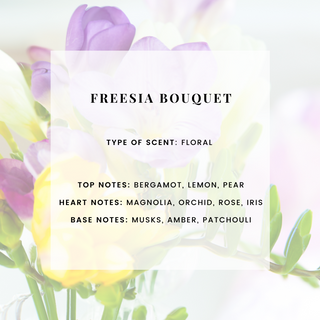 FREESIA BOUQUET SCENTED CANDLE