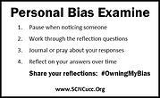 Personal Bias Refelction Card- Back