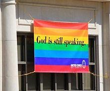 God is still speaking rainbow sign