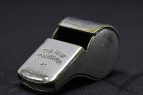 image of gray coach's whistle