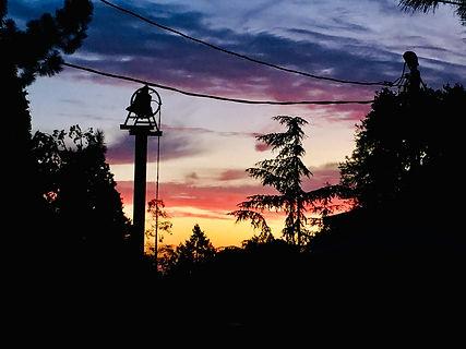 sunset at Pilgram Pines