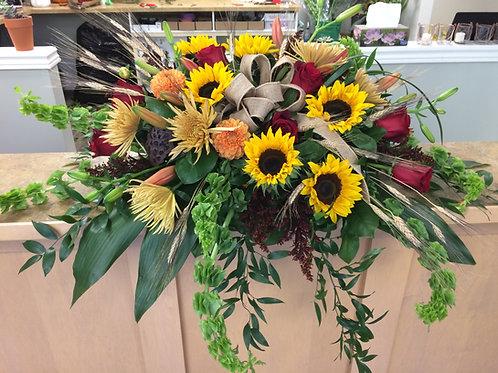 Sunflower Casket Spray