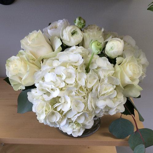 Vase of White on White