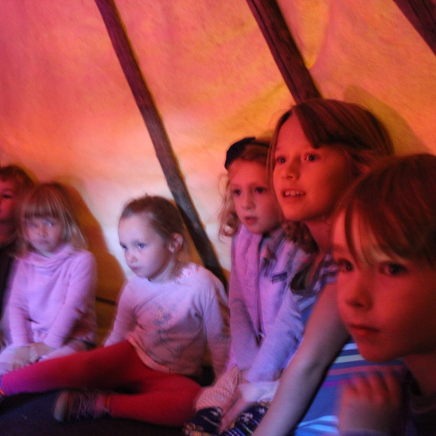in the teepee