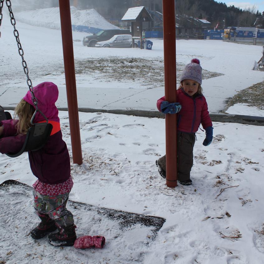 Swinging fun at the park