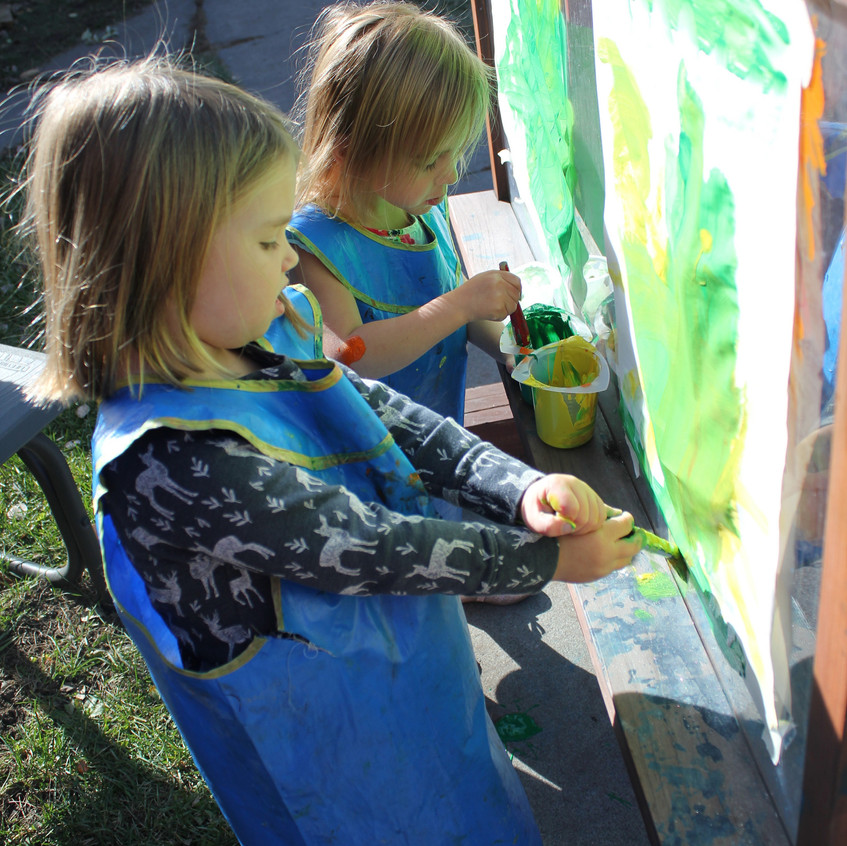 Outside painting