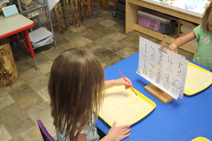 Clay Class, Dot painting, Cornmeal letters