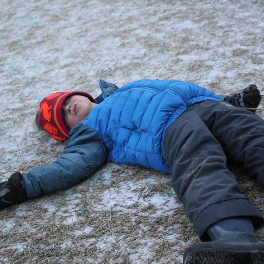 Exhausted after the sled races