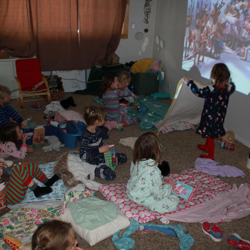 Christmas movie & popcorn day