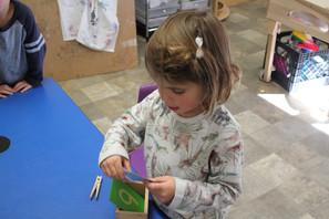 Art class, pumpkin & pins, creative minds at work