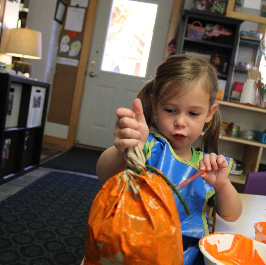 making our pumpkin game