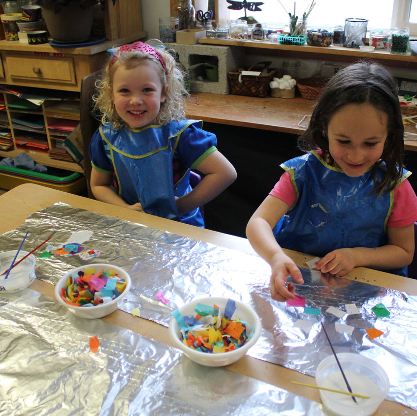 Foil and tissue paper art