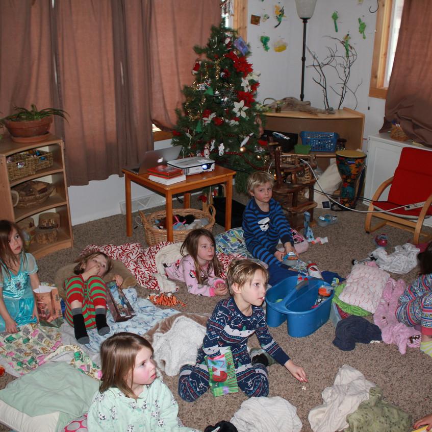 Christmas movie & popcorn