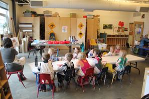 Robots in Art class & the park