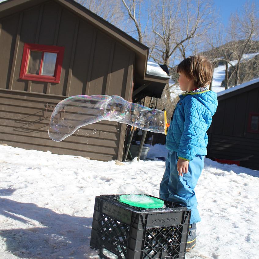 Outside bubbles!