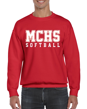 Gildan Crewneck MCHS Softball Sweatshirt