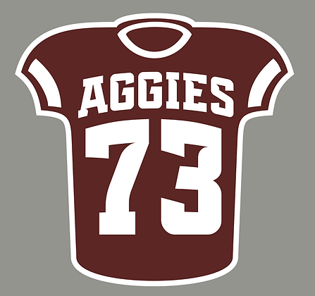 Aggie Jersey Yard Sign