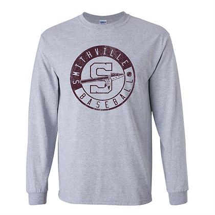 Gildan Longsleeve T - Sport Gray