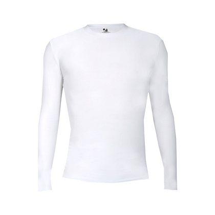 Badger Pro-Compression L/S Crew -White