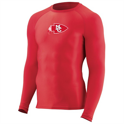 Hyperform Compression Long Sleeve Tee - Red