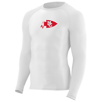 Hyperform Compression Long Sleeve Tee - White