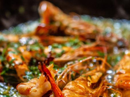 Marinated Shrimp on Rice