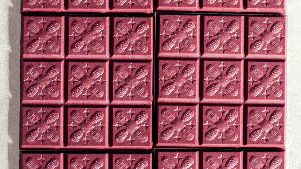 Rosa Hibiskus Ingwer Schokolade (Zusammenarbeit mit Kürzi Kakao)