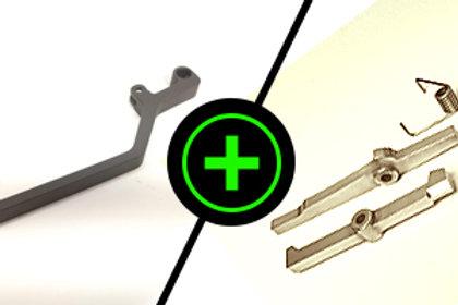 Steel Charging Handle + Trigger Kit Combo