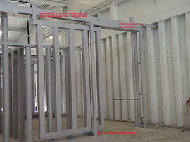 Hydraulic Slide door in the open position
